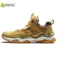 rax mens waterproof hiking shoes outdoor multi terrian mountain climbing backpacking trekking sneakers men lightweight leather