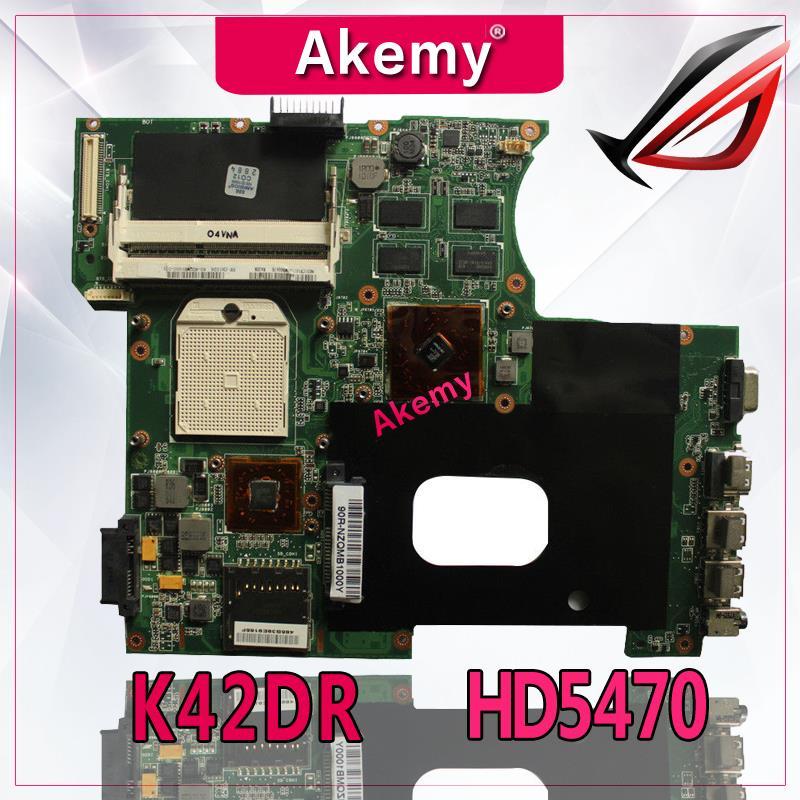 Akemy para For Asus K42DY A42D X42D K42DR K42D K42DE Placa base con HD5470 tarjeta de Video