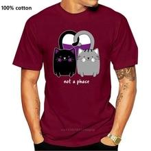 Asexual Katze Herz Lustige Ace Stolz T Shirt Kurzarm Buchstaben Sonnenlicht O Neck Frühling Gebäude Gedruckt Buchstaben Shirt