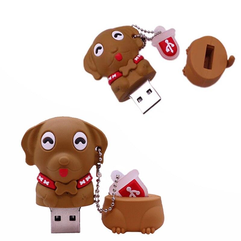Флеш-накопитель с собакой, 128 ГБ, USB 2,0, 4 ГБ, 8 ГБ, 16 ГБ, 32 ГБ, флешка с миньонами, 64 ГБ, Usb подарок