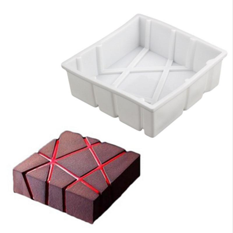 1 шт., неправильная Геометрическая силиконовая форма для торта, Женская 3D форма для выпечки, силиконовые формы для маффинов, коричневых, кондитерских изделий, антипригарная форма