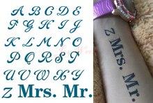 Waterproof Temporary Tattoo Sticker English word letters alphabet Mr. tatto stickers flash tatoo fake tattoos for girl men 4