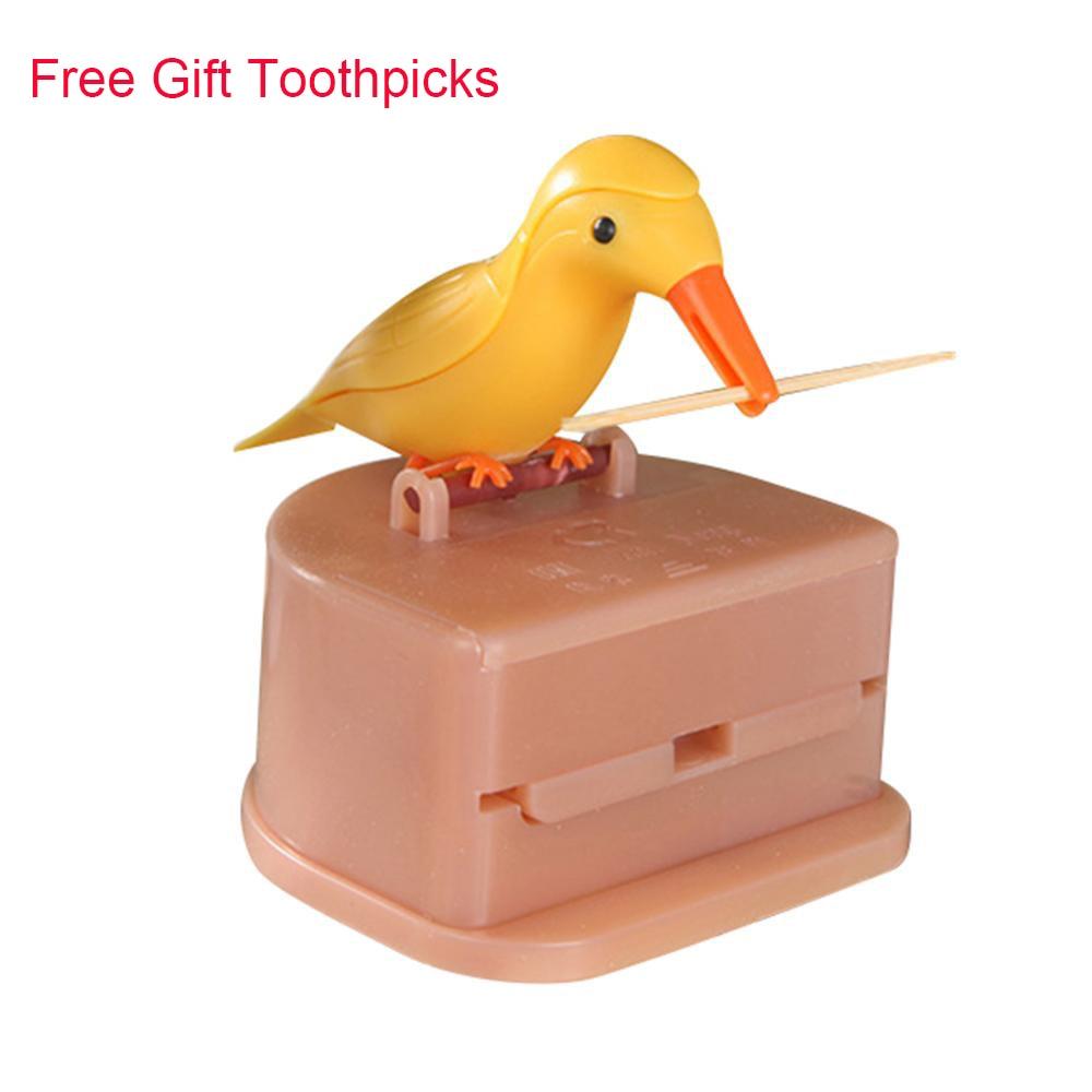 Маленькая птичка контейнер для зубочисток Автоматический Диспенсер Для