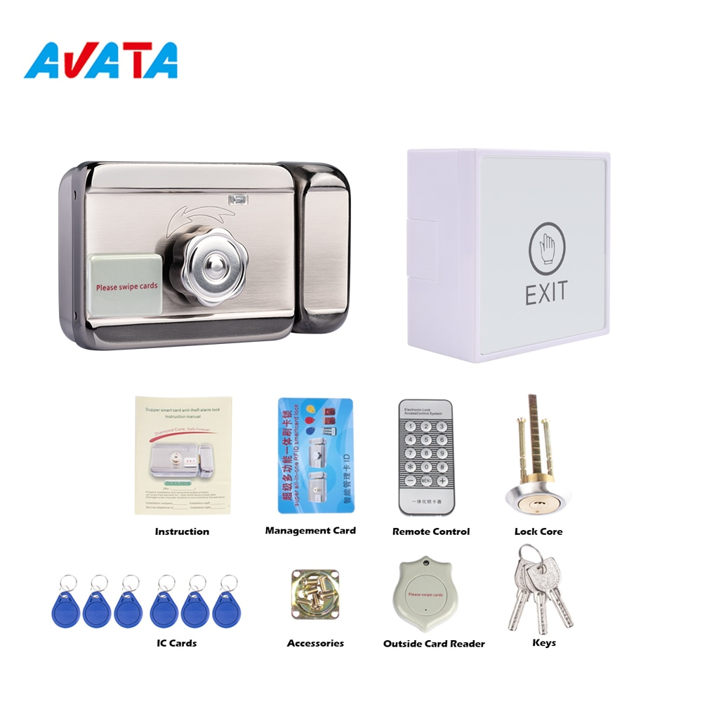 Avavta قفل إلكتروني ذكي مع مفاتيح IC و 3A التحكم في الوصول إمدادات الطاقة للفيديو نظام اتصال داخلي دعم فتح عن بعد