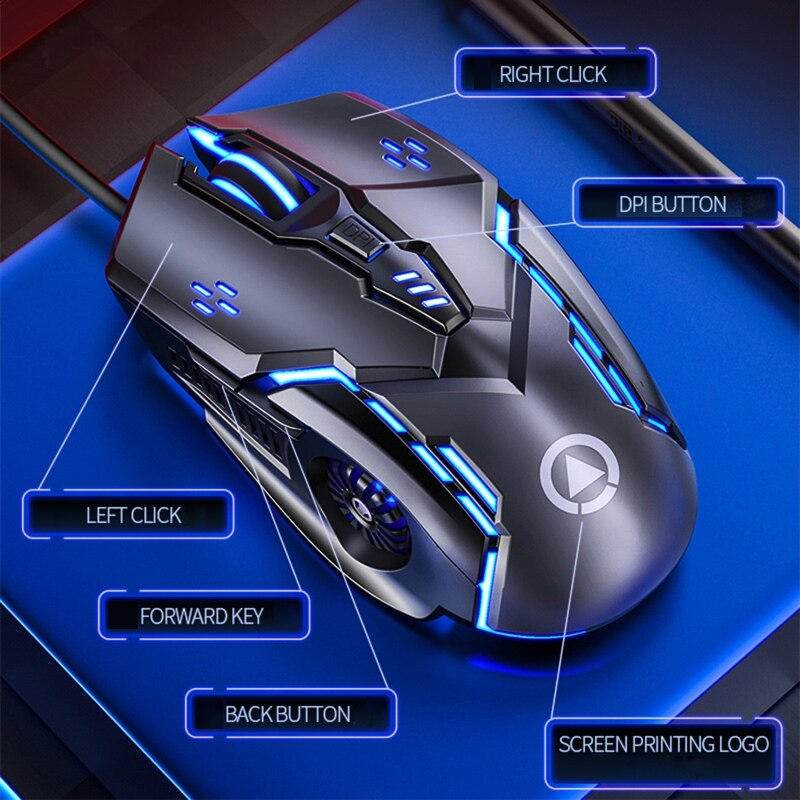 G5 Wired Gaming Mouse Wired Mouse 6D 4-Speed DPI RGB Gaming Mouse For PUBG enlarge