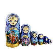7 pièces russe Matryoshka nidification poupée filles tilleul peint à la main décor cadeau poupée jouets