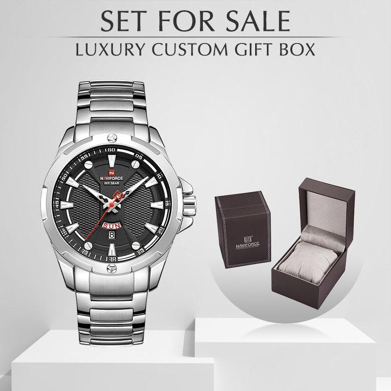 Men's Watches Set for Sale NAVIFORCE Analog Watch Men with Box Stainless Steel Waterproof Quartz Wristwatch Relogio Masculino