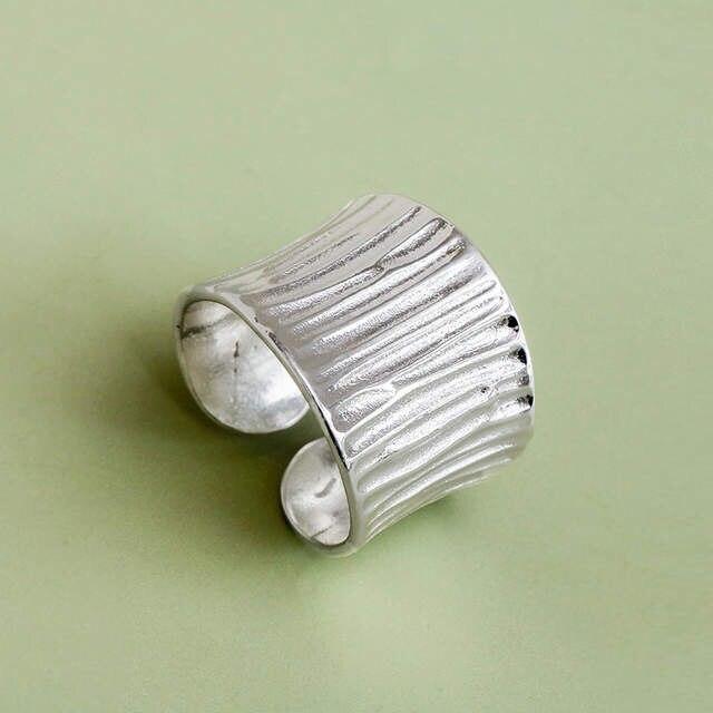 Anillos grandes de Plata de Ley 925 estilo bohemio Vintage para mujer, regalos de boda para niñas, anillos abiertos para dedos, joyería de moda