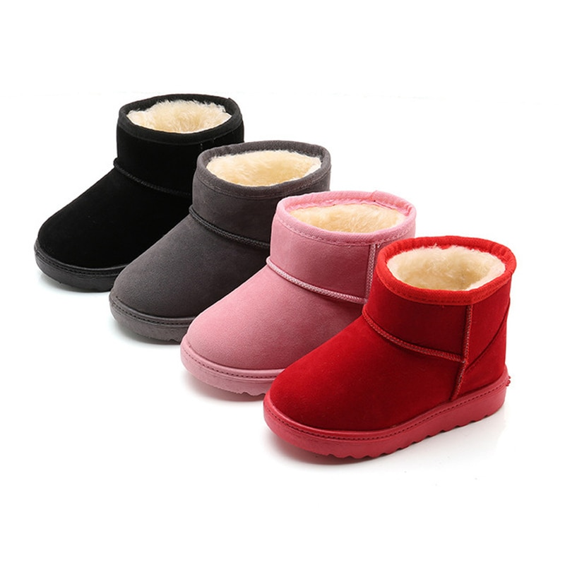 2020 новая зимняя детская обувь, теплые зимние сапоги с хлопковой подкладкой для девочек, детские резиновые сапоги, Нескользящие замшевые сап...