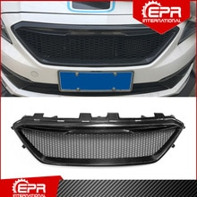 Para sonata lf 9th ms estilo de fibra carbono frente grill corrida parte tuning para sonata lf brilhante carbono amortecedor dianteiro grill corpo kit