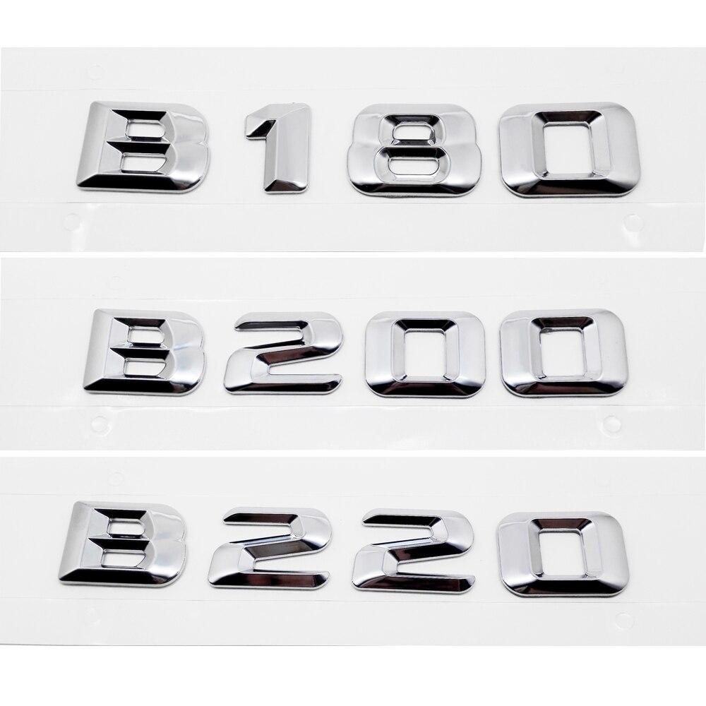 מתכת סמל תג רכב אחורי מדבקה לרכב חיצוני אביזרי עבור מרצדס בנץ עבור B Class B180 B200 B220 W245 W246 w251 SLK AMG