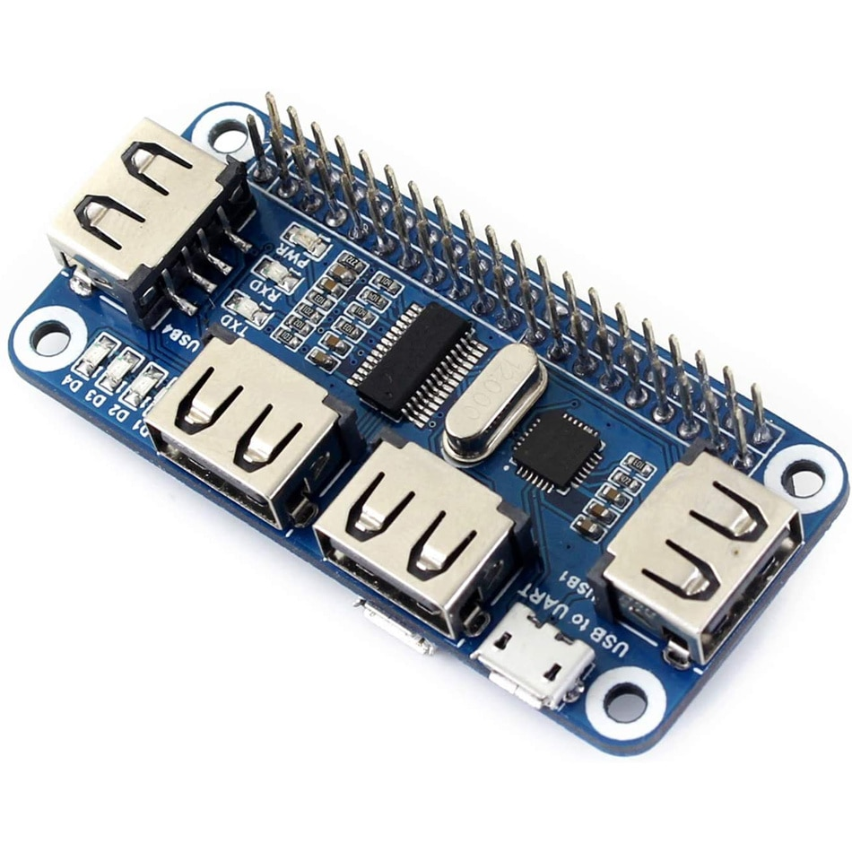 Aokin Raspberry Pi USB к Ethernet RJ45 сетевой порт, фоторазветвитель, 3 USB-порта, порт s 5 В, шляпа для Raspberry Pi 4 Model B/3B +/3B/Zero