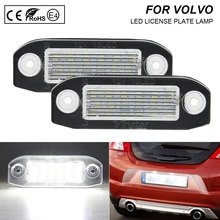 2x Error Free LED License Plate Light Lamp Car Accessories For Volvo C70 S40 S60 S80 V50 V60 Cross Country V70 XC60 XC70 XC90
