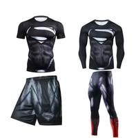 mma rashguard men boxing sets bjj rashguard jiu jitsu breathable muay thai mma shorts gym fitness men sport suit boxing jerseys