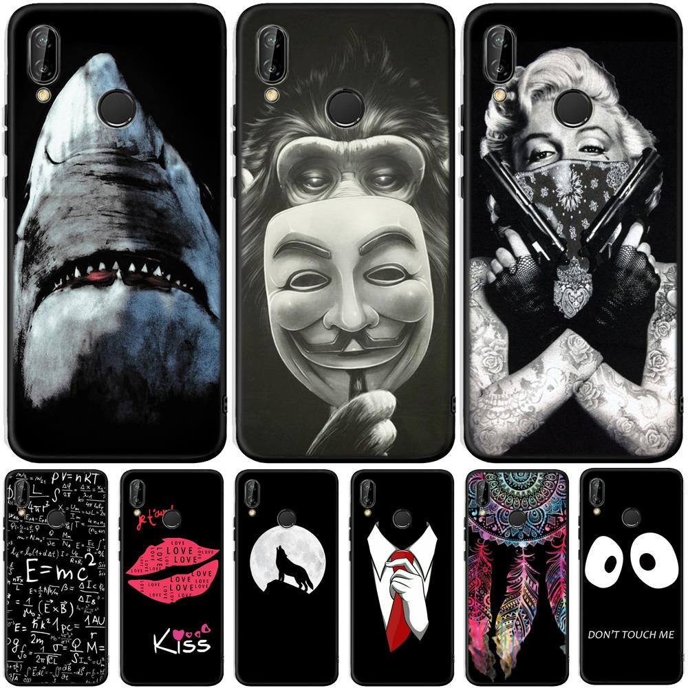Shark For Huawei Honor 8 9 10 20 Lite 7A Pro 7C 8A 8S 8X 8C 9X View 20 V20 Case Soft Silicone Cover Phone Back Capa Etui Fundas