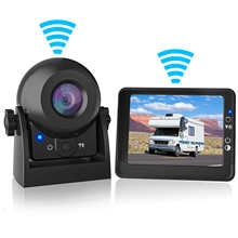 MHCABSR WiFi Wireless Reversing Camera with 3.5 Inch LCD Monitor IP68 Waterproof Car Rear View Camera Kit for Car Truck