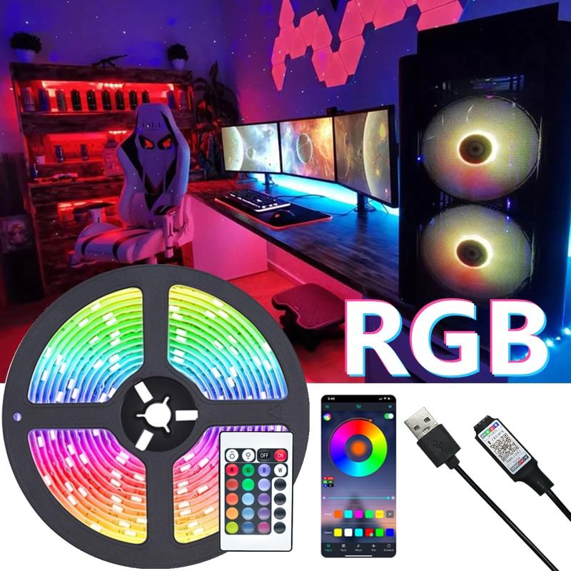 led-luces-de-tira-rgb-2835-usb-bluetooth-control-remoto-ir-lampara-flexible-cinta-de-dc5v-tv-retroiluminacion-la-noche-de-iluminacion-1m-2m-3m-4m-5m