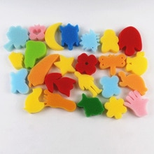 24Pcs Painting Sponge DIY Painting Tool Colorful Assorted Sponge Children DIY Painting Arts and Craf