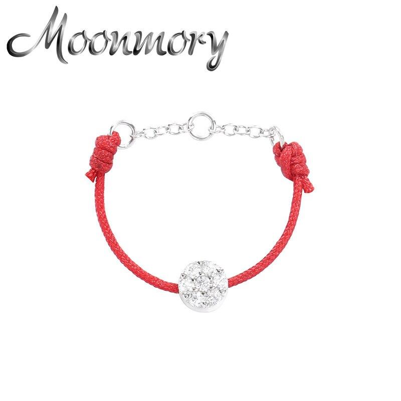 Moonmory 925 Sterling Silber Rot Gewinde Mode Ring Für mädchen CZ Kristall Stein Schmuck Dating Valentinstag Weihnachten Geschenke