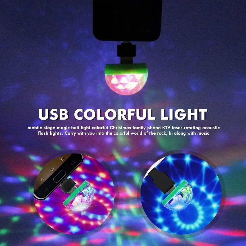 USB сцена огни клуб проекция лампа для мобильного телефона семьи магия мяч дискотека огни фестиваль вечеринка красочный KTV фонарь