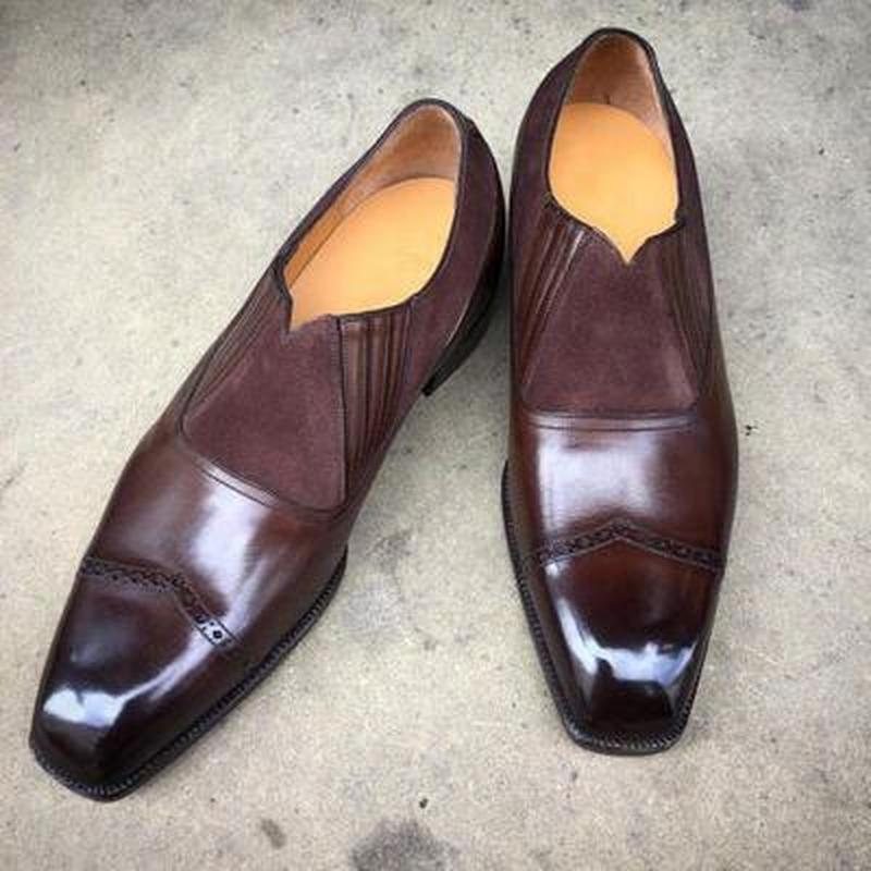 Men pu leather Shoes 2021spring autumn New Suede Stitchingpu Men  Dress Shoes  Boots Fashion Casual