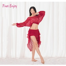 Vêtements de danse du ventre pour femmes professionnelles dentelle modale Sexy jupe longue 2 pièces ensemble de danse du ventre pour filles costume de danse latine