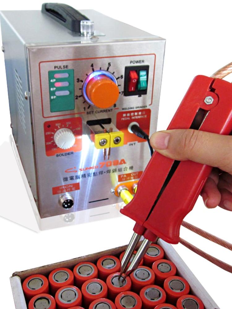 for 709A with 70B Spot Welder 1.9KW LED light Pulse Battery Spot Welding Machine for 18650 battery pack welding precision enlarge