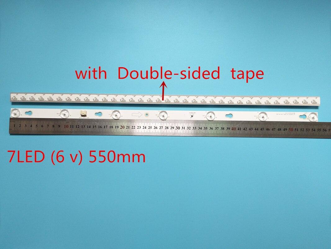 Nova 2 uds 7LED 550 millimetres tira conduzida Luz de Fundo para...