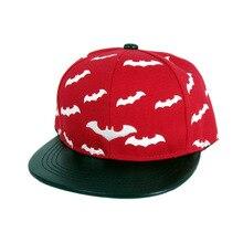 New Cotton Boys and girls Children PU leather brim Baseball Hat Bat Embroidery Hip Hop Hat Male Girl Mesh cap Sun Hat