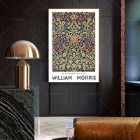 william morris art print floral poster violet and colombine textile pattern vintage art print wall art poster print