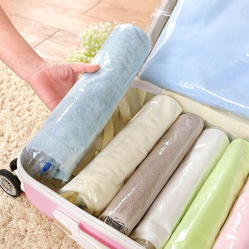1 pçs selo vácuo 4 tamanho roupas organizador de armazenamento em casa decoração poupança armazenamento suprimentos vac sacos espaço salvar compactado colcha ferramentas