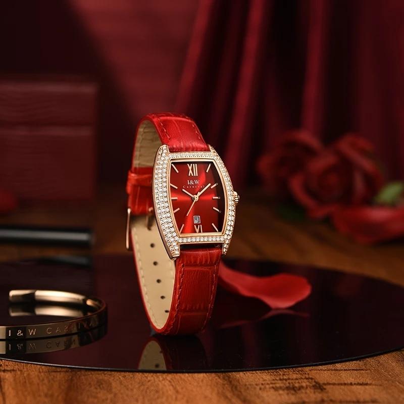 CARNIVAL Brand Women Fashion Rose Gold Watch Ladies Luxury Waterproof Sapphire Calendar Girl Quartz Wristwatch Relogio Feminino enlarge
