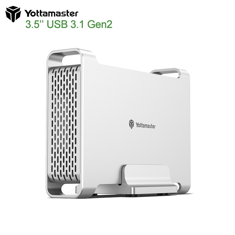 Yottamaster DR1C3-35 HDD/SSD Case SATA3.1 Gen2 10Gbps Max UASP Supported 3.5'' 16TB Max Type-C External Hard Drive Enclosure