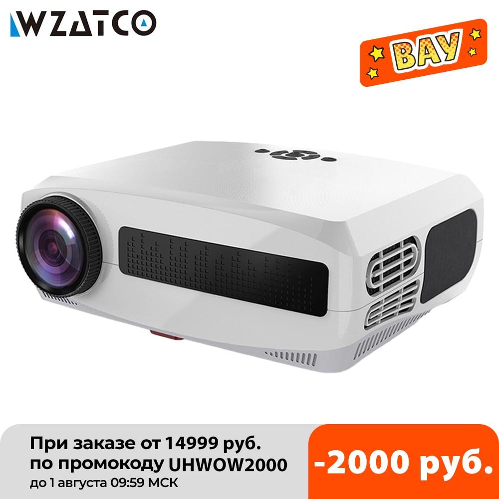 WZATCO C3 جديد جهاز عرض (بروجكتور) ليد الروبوت 10.0 WIFI كامل HD 1080P 300 بوصة الشاشة الكبيرة Proyector 3D المسرح المنزلي الذكية فيديو متعاطي المخدرات