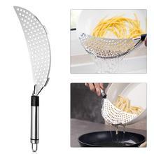 1pc acier inoxydable croissant casserole Pot crépine poche Spaghetti pâtes friture égouttoir ustensile de cuisine pour Restaurant maison café