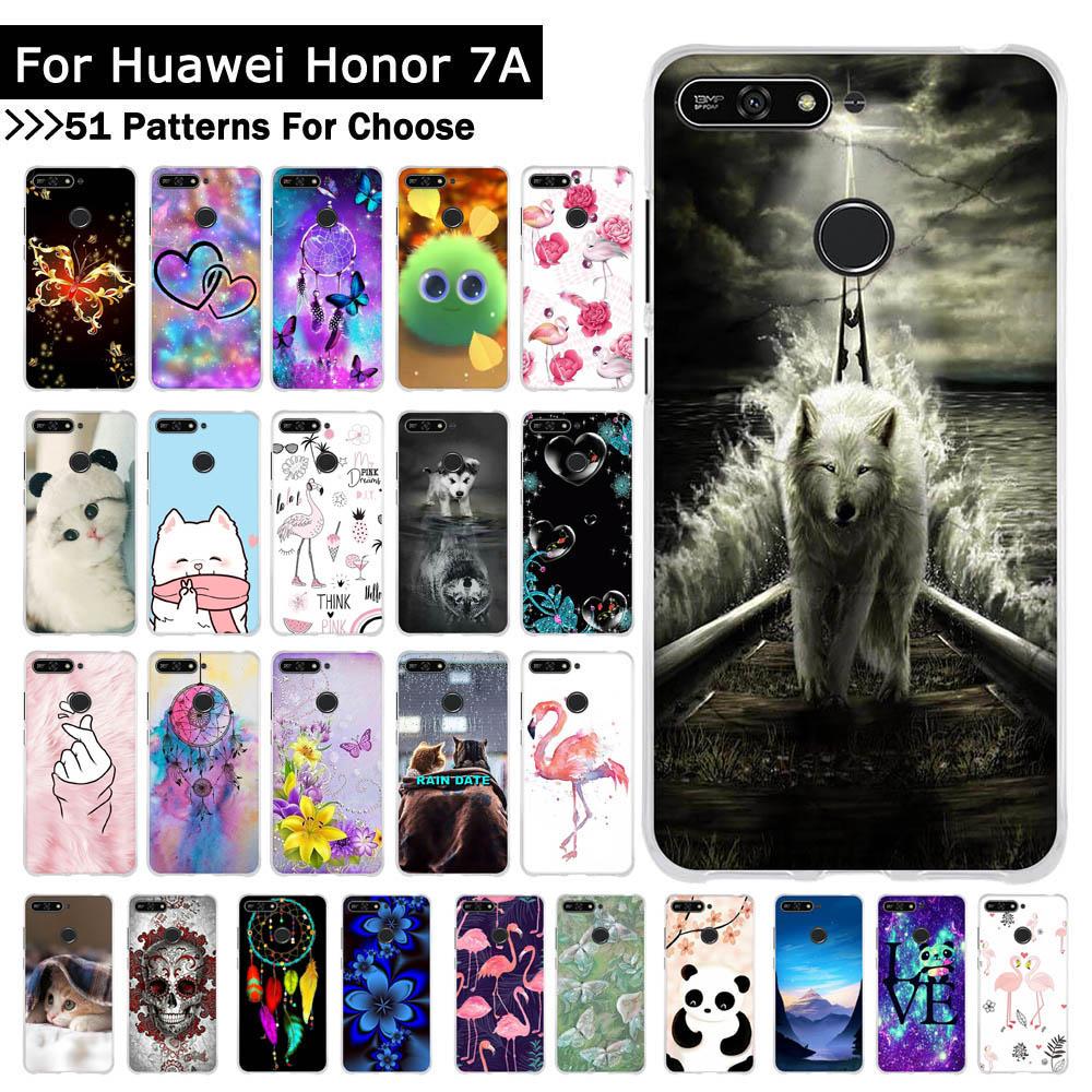 Para Huawei Y7 Prime 2019, funda de teléfono de silicona suave con animales, Fundas para Huawei Honor 7A 5,7 Y6 2018