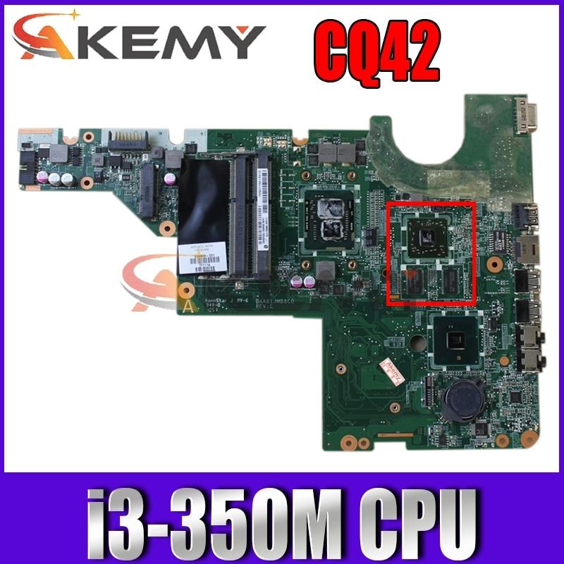 ل HP G42 CQ42 CQ62 اللوحة المحمول DAAX1JMB6C0 634649-001 مع i3-350M CPU HD6370M 512MB GPU DDR3 MB 100% اختبار