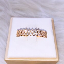 14 kgold único-linha anel de diamante para a beleza feminino 2 quilates de jóias de casamento bizuteria pedra preciosa 14 k ouro diamante anéis de noivado