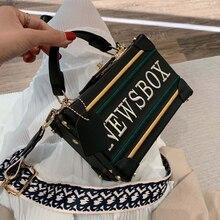 Fashion Women Mini Crossbody Bag Box Handbag Black Newsbox INS Popular Fashion Designer Female Shoulder Bag of Famous Brand