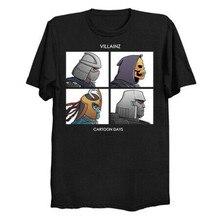 Villainz dibujos animados días demonio días parodia negro camiseta Shredder Skeletor mum-ra Unisex suelta Fit camiseta