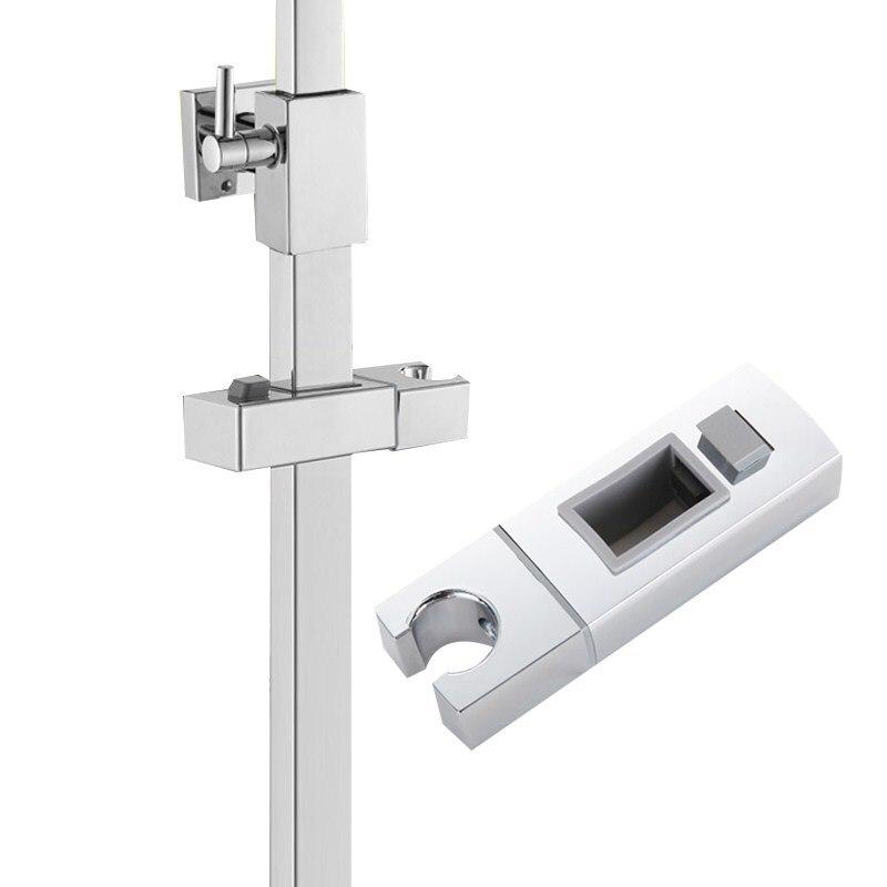 Deslizador de la cabeza del carril ajustable de la ducha soporte de la base del rociador soporte de mano ABS reemplazo robusto baño ducha soportes de montaje
