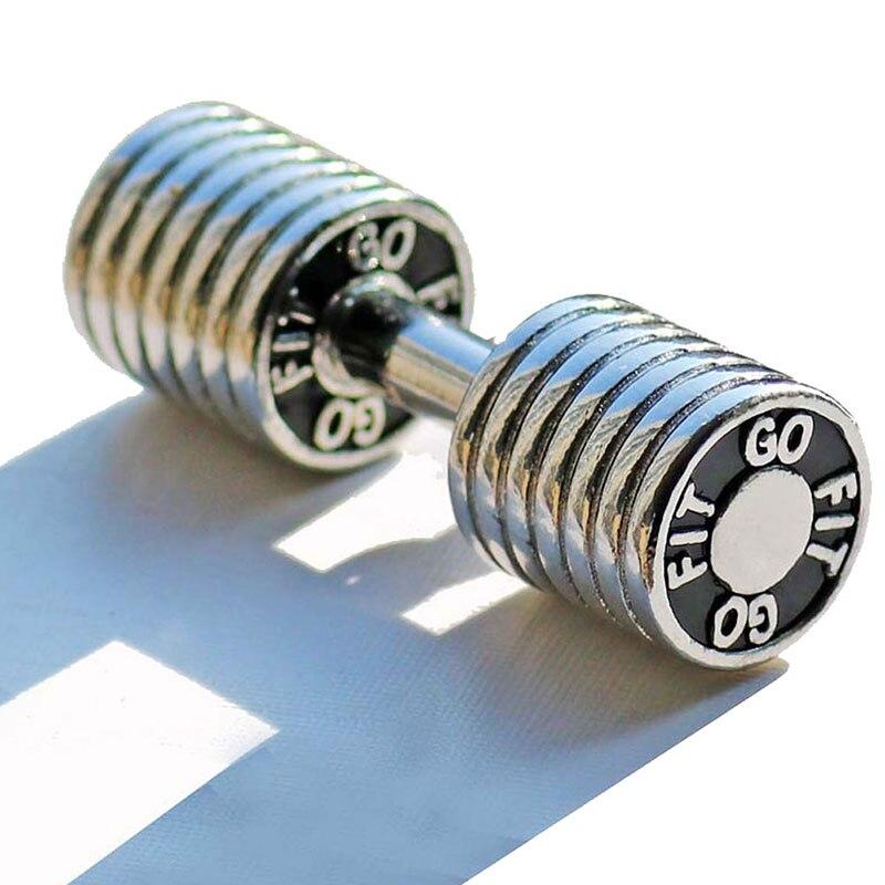 Mancuerna dije de Fitness collar de acero inoxidable culturismo gimnasio peso mancuerna para CrossFit collar Fitness joyería