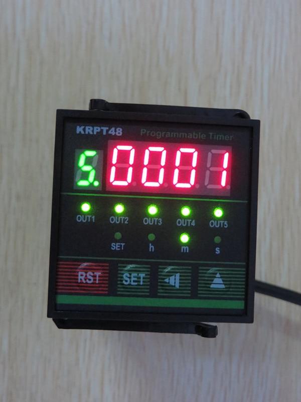 برمجة متعدد القنوات الوقت التتابع 5-قناة قابلة لإعادة التدوير الصناعية جهاز ضبط الوقت شاشة ديجيتال الموقت KRPT48