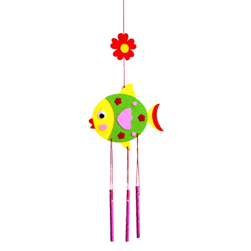 Фото - Children DIY Wind Chimes Handmade Craft Toy Kits Wind Bell Arts Cartoon Hangings Stickers Kids Windbell Toys For Girls 3 pieces wind chimes feng shui wind bell lucky wind chimes bell vintage dragon and fish feng shui hanging chime for good luck