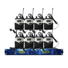Système de surveillance dans loreille moniteur émetteur 2 canaux 8 Bodypack avec moniteur sans fil pour équipement de Studio de scène