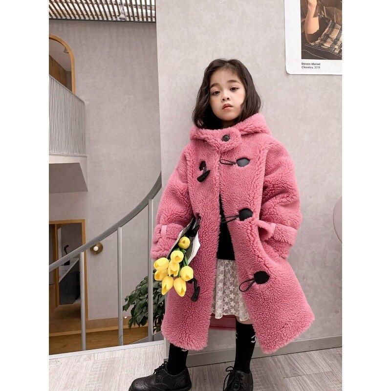 Coat Winter Warm Jacket For Kids Coat For Girl 2021 Fashion Teen GirlsMink Cashmere Coat Children Fake Fur Overcoat Warm Jacket enlarge