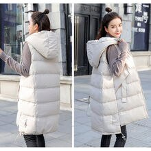 2021 New Autumn And Winter Women's Vest Loose Mid-Length Women's Waistcoat Large Size Women's Sleeve