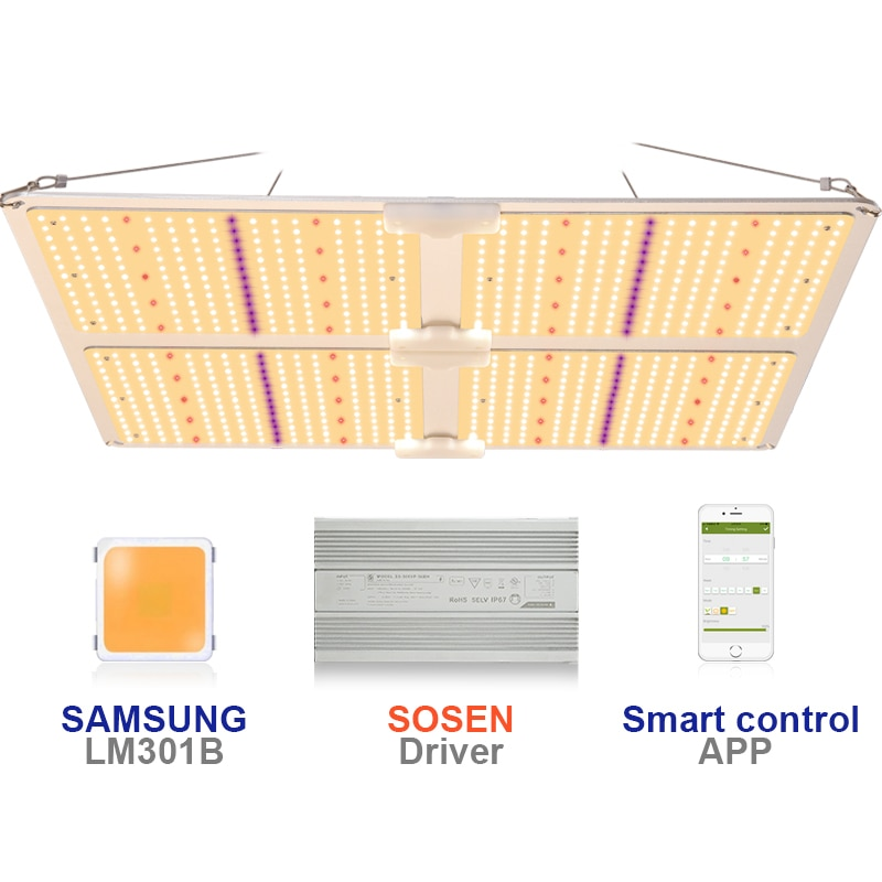 LED تنمو ضوء 450 واط SF4000 سامسونج LM301B /LM301H الطيف الكامل لوحة الكم qb Bord SF 4000 4000 واط الذكية يعتم LED تنمو مصباح