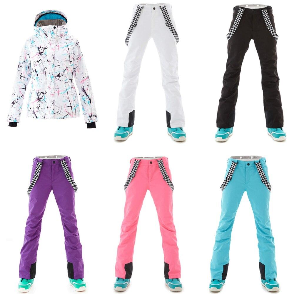 بدلة تزلج للنساء ، ملابس شتوية ، معطف واق من المطر ، مسامي ، دافئ ، جاكيت ، بنطلون ، مقاوم للرياح ، بدلة رياضية خارجية
