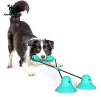 pet supplies double suction cup drawstring dog clear teeth toy grinding rod fixed tension rope training toys bite toys dt 005